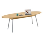 "96"" x 42"" Elliptical Table with Shelf, 41462"