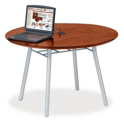 """42"""" Round Conference Table with Data Port, 41478"""