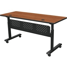 "Adjustable Height Mobile Flipper Table with Modesty Panel - 60""W , 41654"