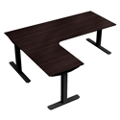 "Height-Adjustable L-Desk - 72""W x 48""D, 41942"