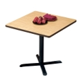 "Breakroom Table with Black Base - 30"" Square, 44075"