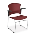 Plastic Shell Stack Chair with Arms, 44179