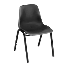 Armless Polypropylene Stack Chair with Painted Frame, 44196