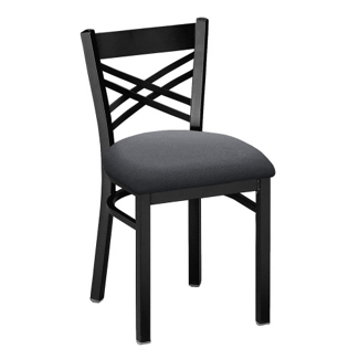 Cross-Back Chair with Black Frame, 44210