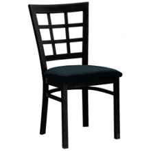 Grid-Back Chair with Black Frame, 44214