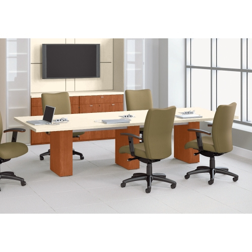 national office furniture waveworks 48 x 120 conference table