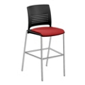 Cafe Stool with Fabric Seat, 44596
