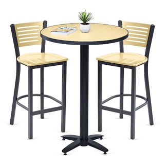 Loft Bar Height Table and Two Chair Set, 44680
