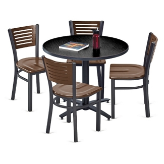 Loft Breakroom Standard Height Table and Four Chair Set, 44681