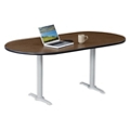 "Frappe Oval Table with Power - 72""W , 46018"