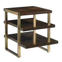 """End Table with Staggered Shelves - 22""""W, 53042"""
