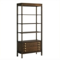 "Four Shelf Bookcase with Two Drawers - 79.3""H, 32145"
