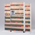"""Three Unit Letter File Track System with Seven Tiers - 42""""W, 30619"""