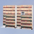 """Five Unit Letter File Track System with Seven Tiers - 36""""W, 30618"""