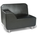 Right Arm Polyurethane Lounge Chair with Inlay Table, 53019
