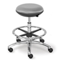 Polyurethane Adjustable-Height Stool with Footring and Memory Foam Seat, 50014