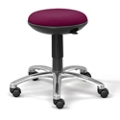 Fabric Adjustable-Height Rolling Stool with Memory Foam Seat, 50017
