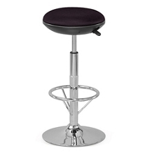 Fabric Adjustable-Height Stationary Stool with Memory Foam Seat, 50019