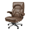 Big and Tall Office Chair in Genuine Leather, 50062