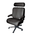 Big and Tall Office Chair in Genuine Leather, 50065