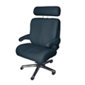 Big and Tall Office Chair in Fabric or Faux Leather, 50063