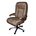 Plush Big and Tall Office Chair in Genuine and Faux Leather , 50080