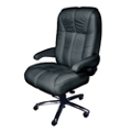 Plush Big and Tall Office Chair in Genuine Italian Leather , 50074
