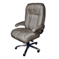 Plush Big and Tall Office Chair in Genuine and Faux Leather , 50073