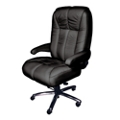 Plush Big and Tall Office Chair in Genuine Italian Leather , 50081