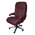Plush Big and Tall Office Chair in Fabric or Faux Leather , 50072