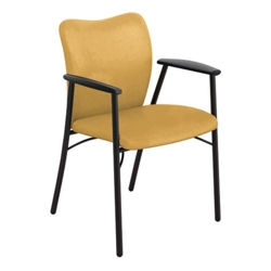 Guest Chair with Black Poly Arms, 50502