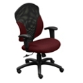 Mid Back Chair with Mesh Insert and T-Arms, 50517