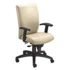 High Back Vinyl Chair with Adjustable Arms, 50562