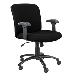 Big and Tall Mid-Back Chair with Arms, 50594