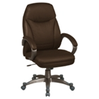 High-Back Faux Leather Chair, 50652