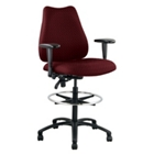 Quasar Big & Tall Stool with Arms, 50699