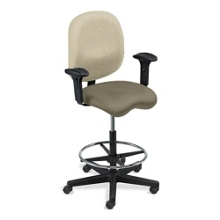 Task Stool with Arms in Anti-Microbial Vinyl, 50799