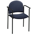 Heavy-Duty Fabric Stackable Chair with Arms, 51118