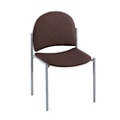 Armless Heavy-Duty Fabric Stackable Chair, 51119
