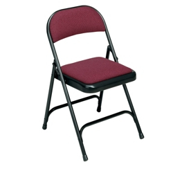 Folding Chair with Padded Seat and Back, 51196