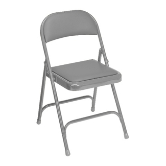 Folding Chair with Padded Vinyl Seat and Back, 51197
