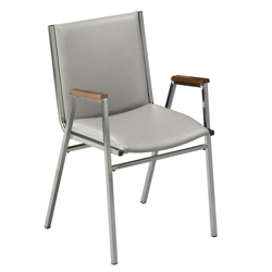 """Stack Chair with Arms 2"""" Vinyl Seat, 51224"""