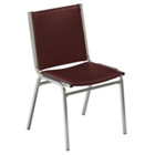 "Armless 1"" Vinyl Stack Chair, CD04219"