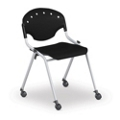 Stack Chair with Casters, 51261