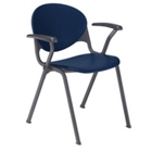 400lb. Capacity Heavy-Duty Plastic Stack Chair with Arms, 51309