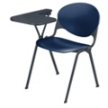 Heavy Duty Plastic Stacking Chair with Tablet Arm - Specify Right or Left, 51310