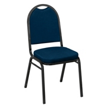 "Round Back Vinyl Stack Chair with 2"" Seat, 51330"