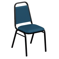 """Square Back Fabric Stack Chair with 1-1/2"""" Seat, 51331"""