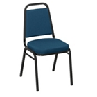 """Square Back Fabric Stack Chair with 2"""" Seat, CD04324"""