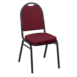 "Round Back Fabric Stack Chair with 2"" Seat, 51333"
